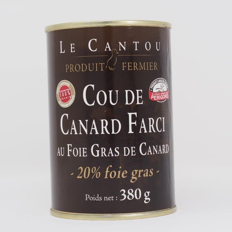 Cou farci 20% foie gras – 380g