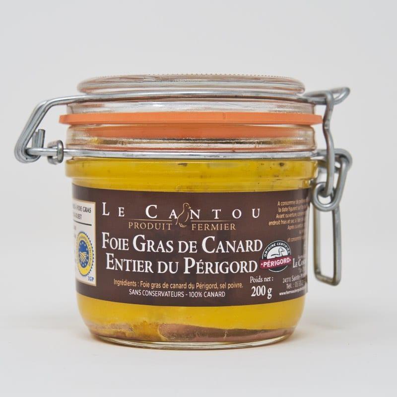 Foie gras de canard entier – bocal – 200g