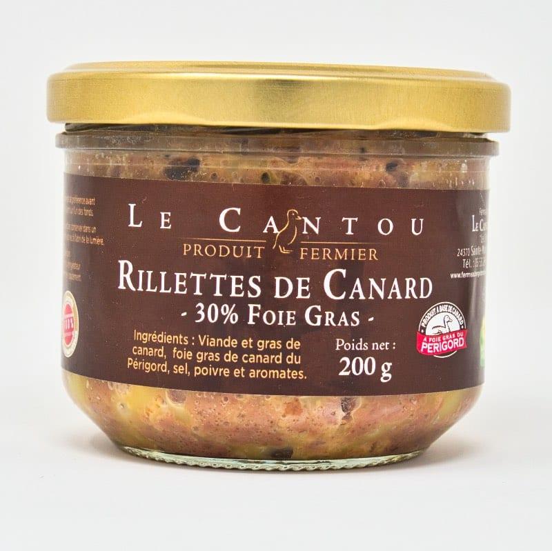 Rillettes de canard 30% de foie gras – 200g